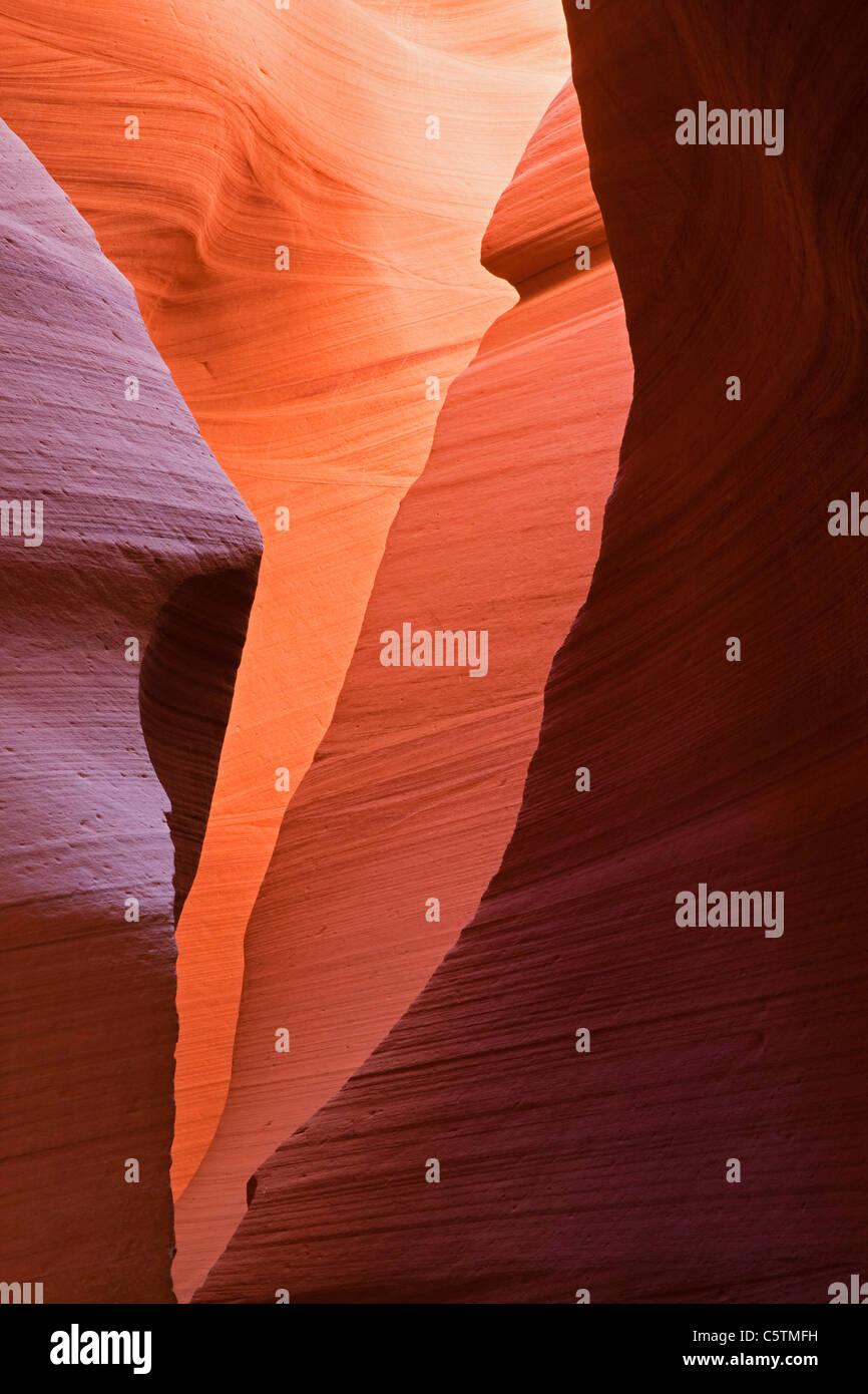 USA, Arizona, Lower Antelope Canyon, murs de grès Photo Stock