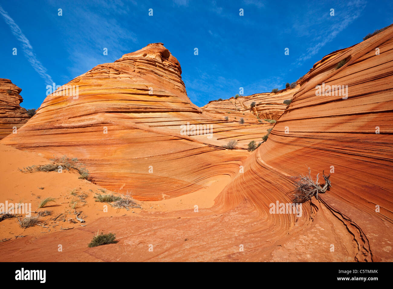 USA, Utah, Coyote Buttes, Paria Canyon, Rock formations Photo Stock