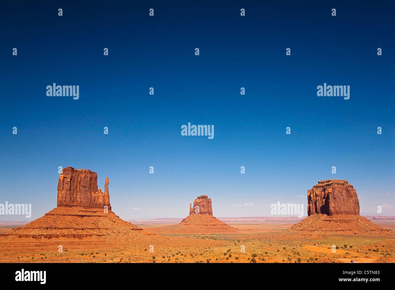 Aux Etats-Unis, l'Arizona, Monument Valley Tribal Park, West Mitten Butte Photo Stock