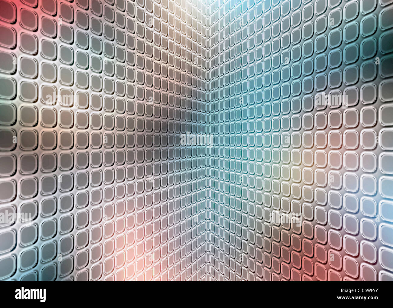 Tuile Perspective, full frame Photo Stock