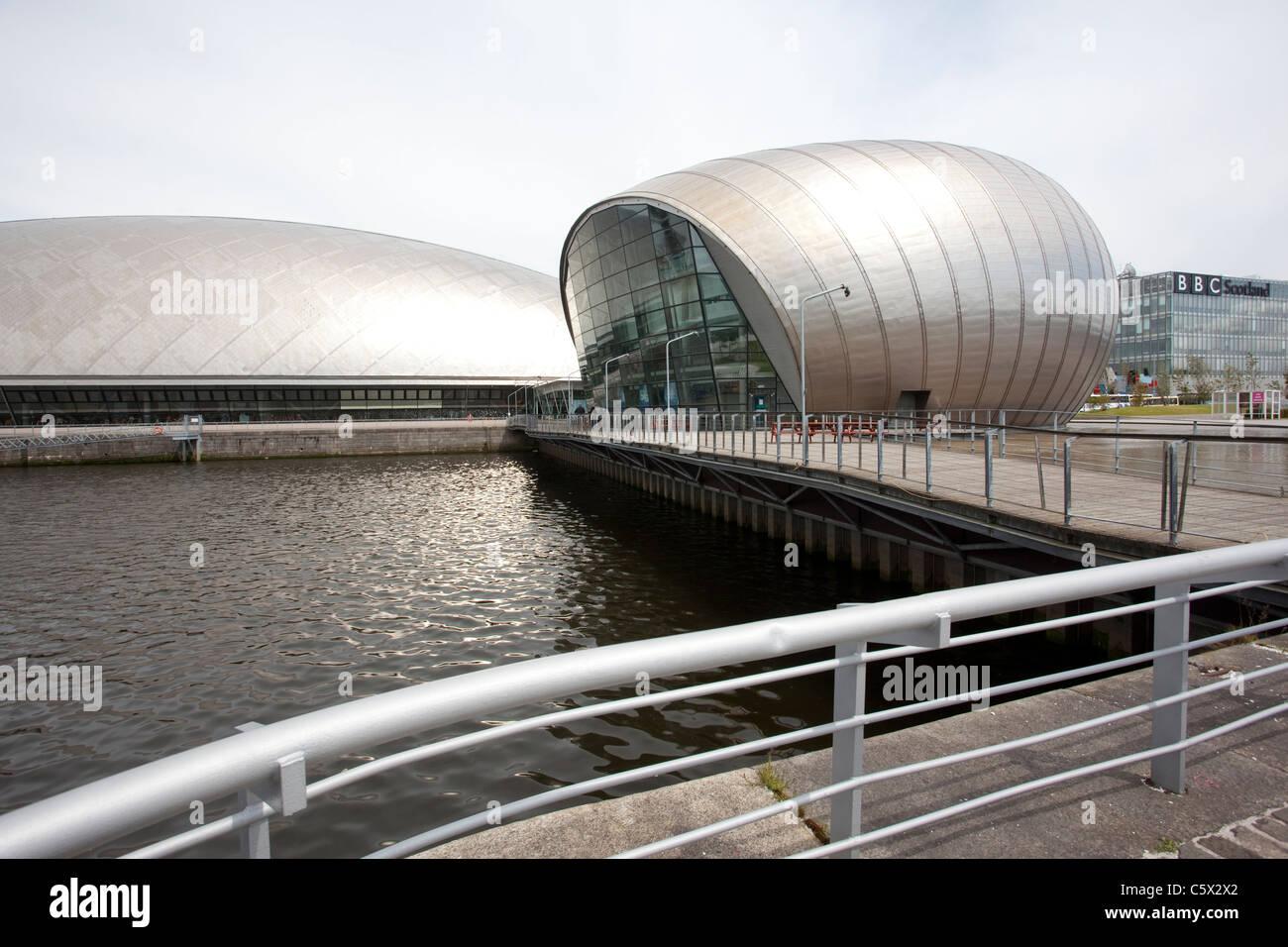 Centre des sciences de Glasgow une attraction touristique située sur la rive sud de la rivière Clyde à Glasgow, Banque D'Images