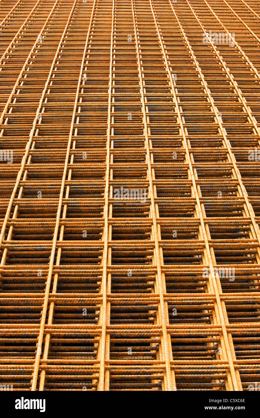 L'acier de construction, grid, full frame Photo Stock