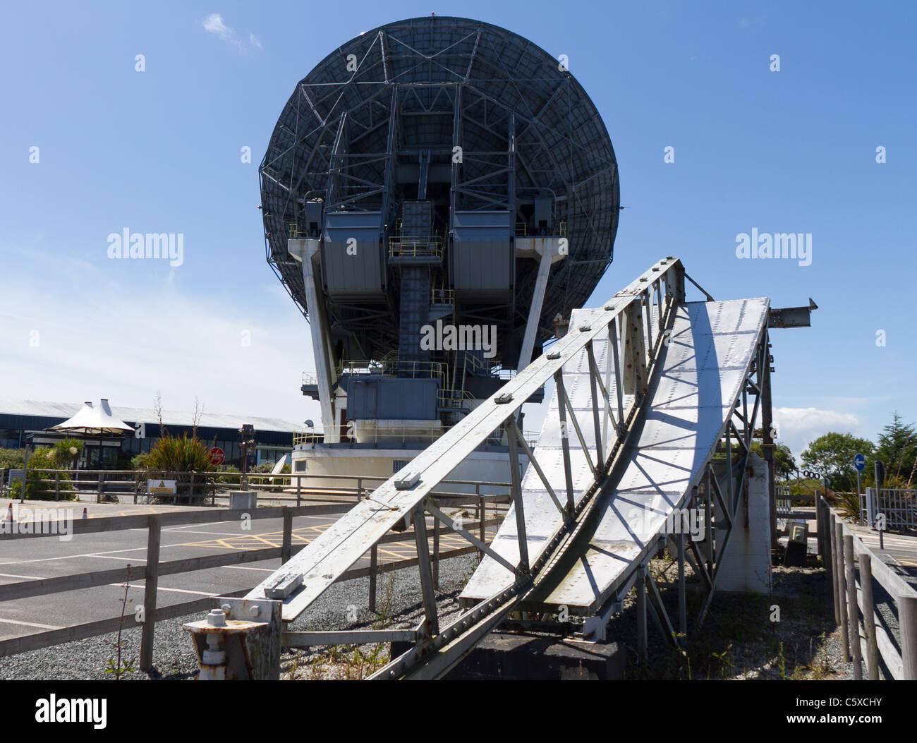 arthur la première antenne parabolique à la station de cornwall