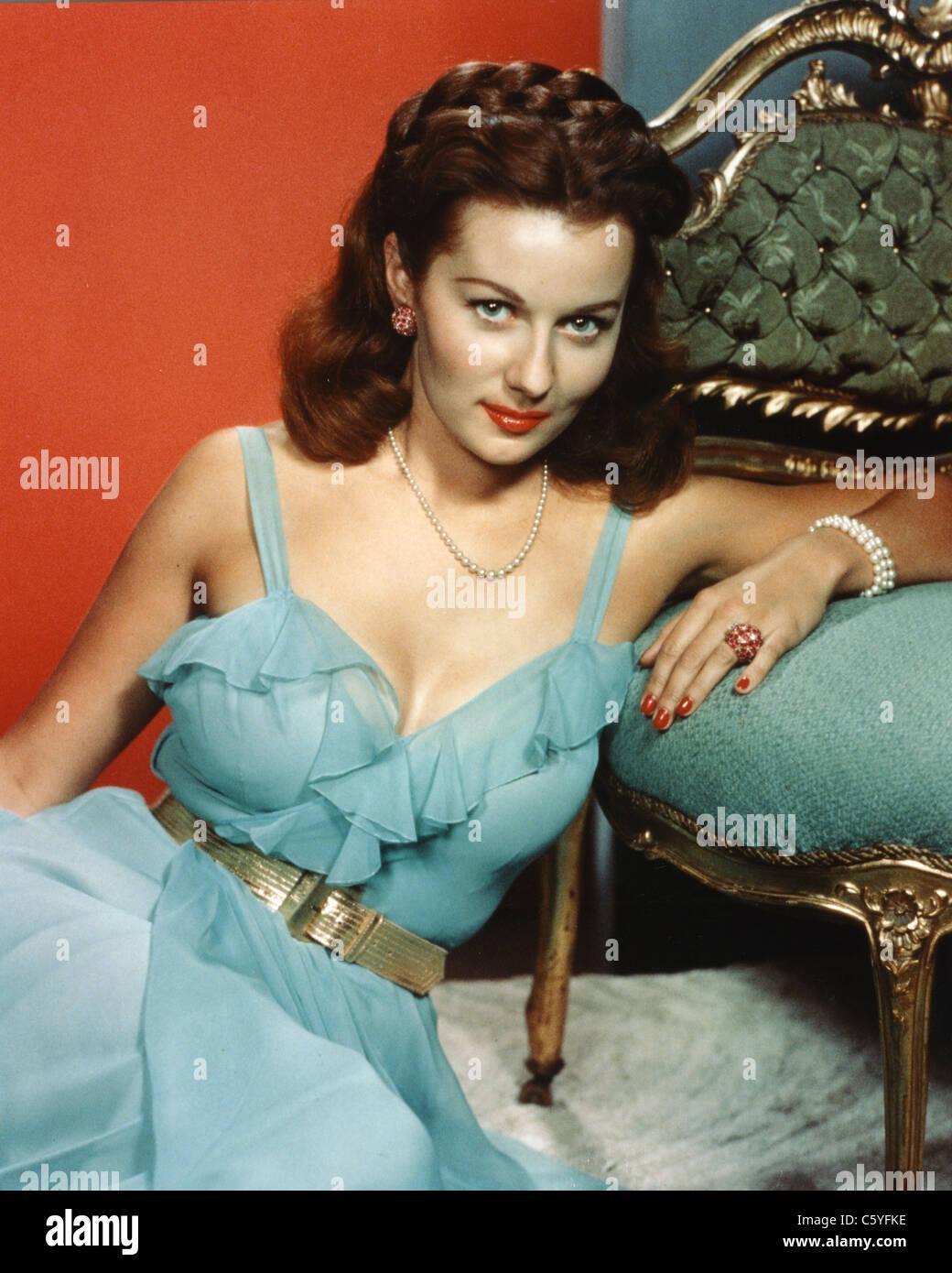 RHONDA FLEMING (actrice de cinéma et de télévision vers 1955 Photo Stock