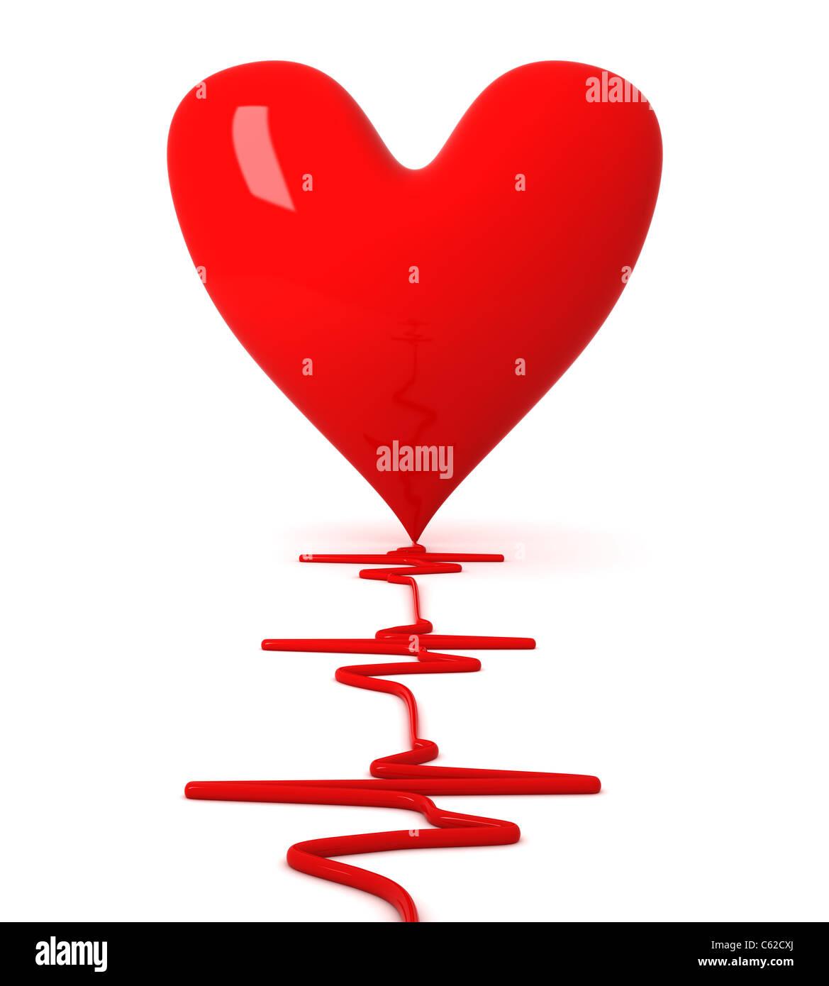 Battement de coeur Photo Stock