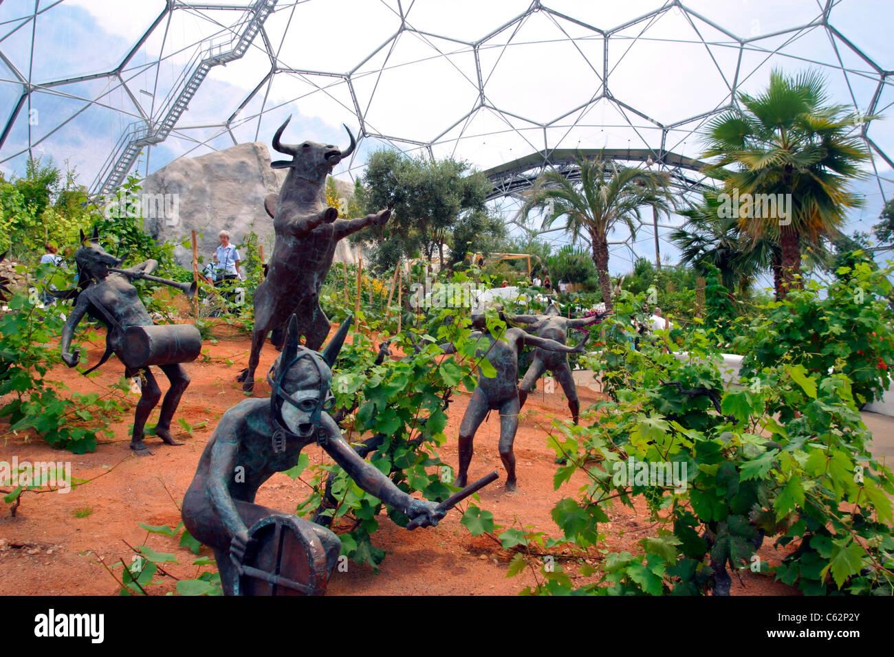 Biodome\' intérieur, de l\'Eden Project, St Austell, Cornwall ...