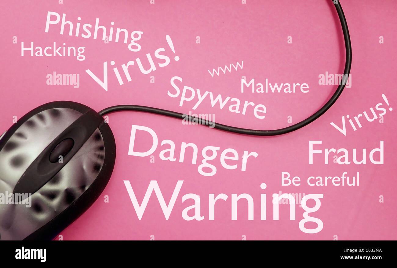 Sécurité en ligne Photo Stock