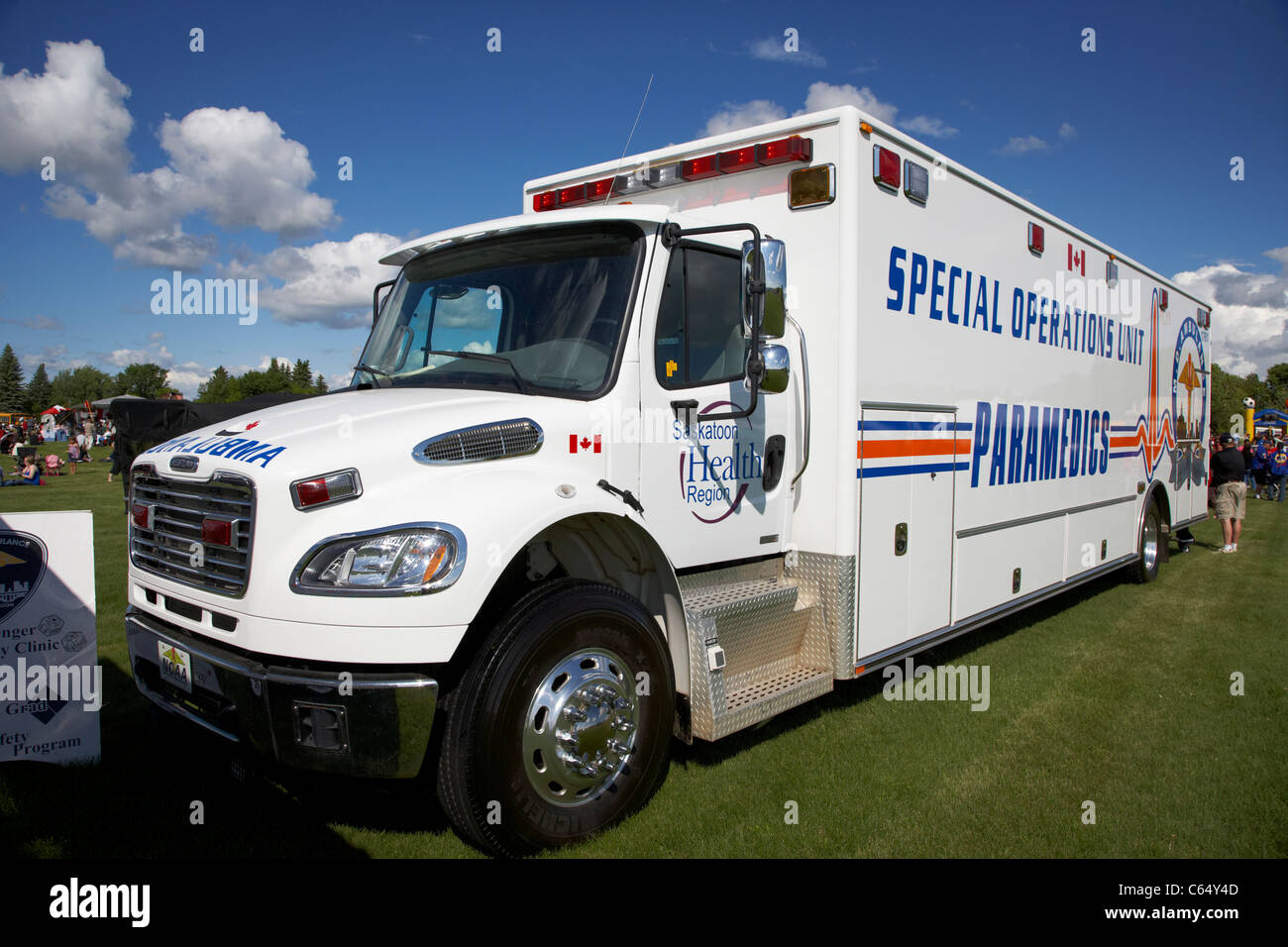 La Saskatoon Health Region unité d'opérations spéciales du Canada Saskatchewan paramédics Photo Stock