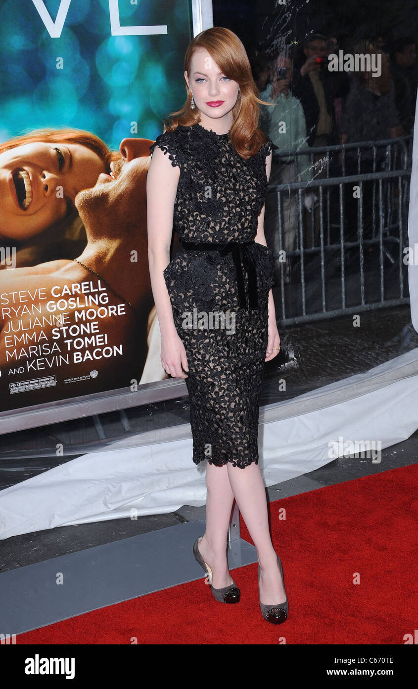 Emma Stone aux arrivées de Crazy, Stupid, Love. Premiere, le Ziegfeld Theatre, New York, NY 19 juillet 2011. Photo Stock