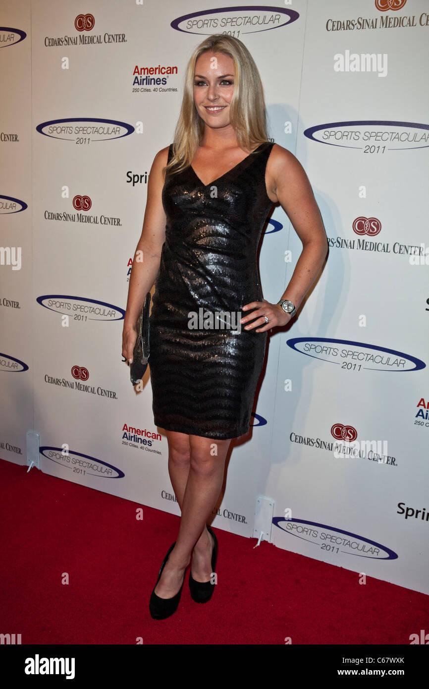 Lindsey Vonn au 26e anniversaire de l'arrivée spectaculaire des Sports, Hyatt Regency Century Plaza Hotel, Photo Stock