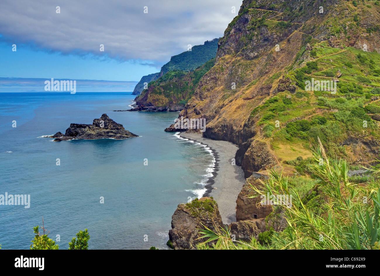La côte nord de Madère Photo Stock