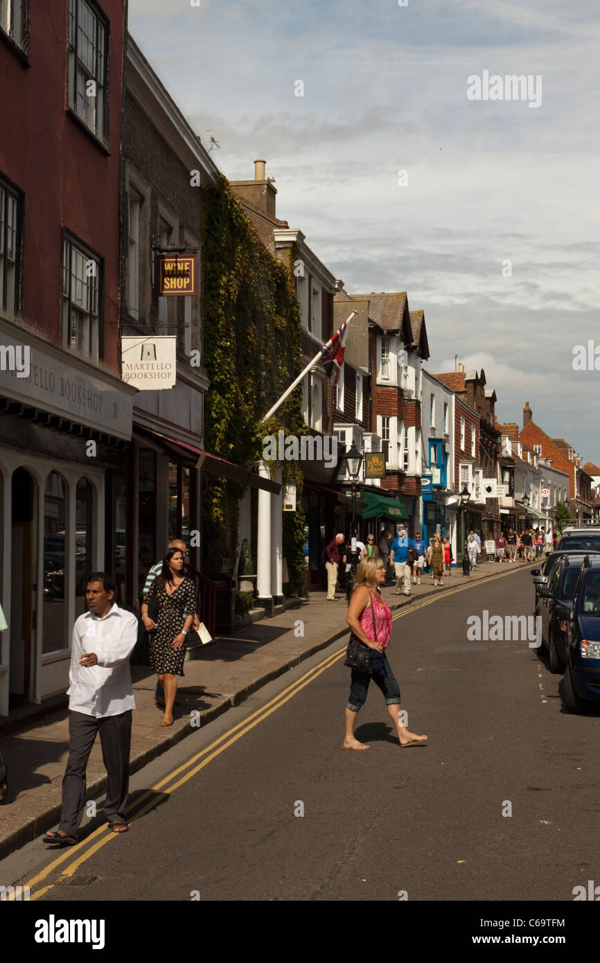Le seigle High Street, East Sussex, England, UK Photo Stock