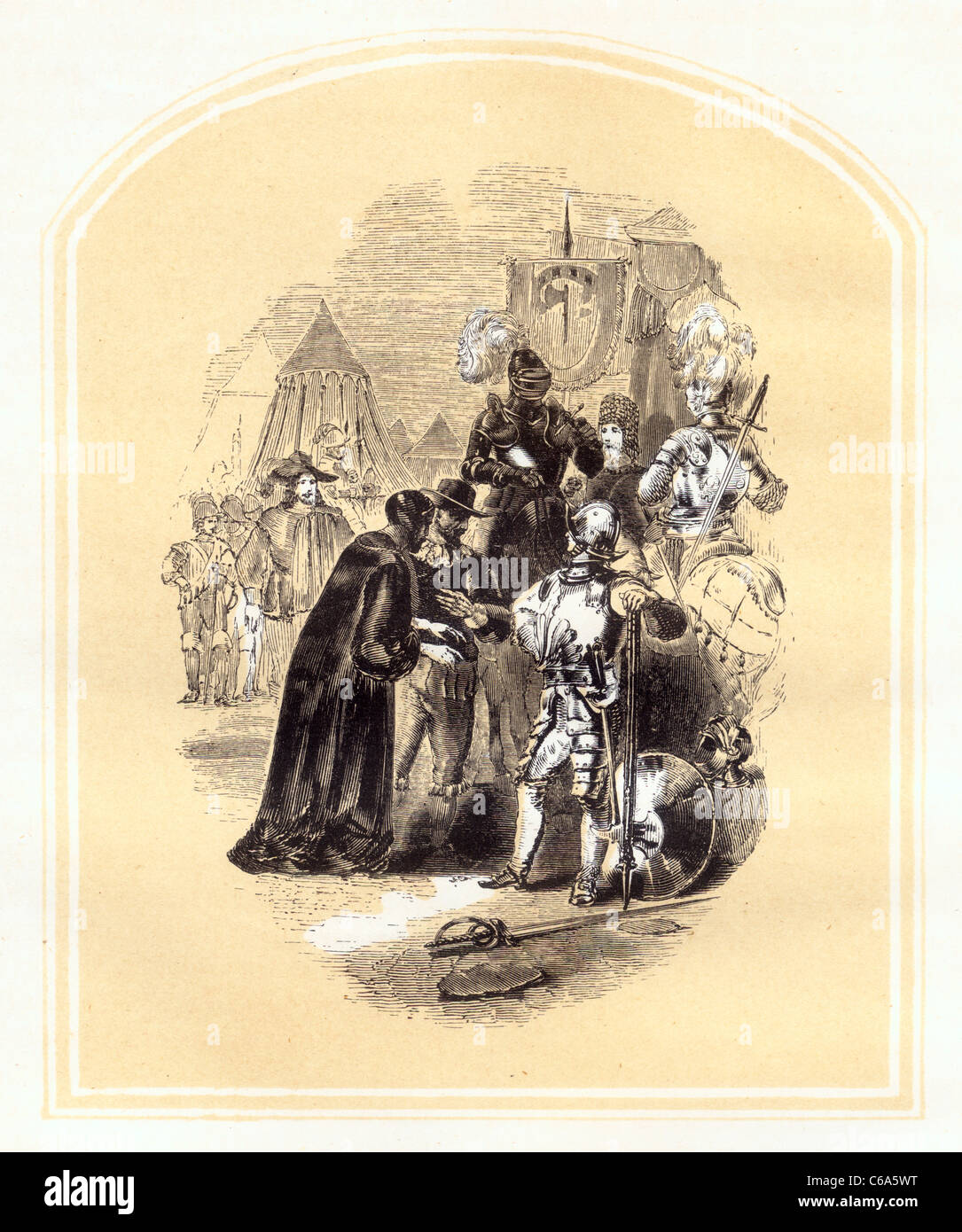 La pétition présentée au Prince Emmanuel de John Bunyan's Holy War Photo Stock