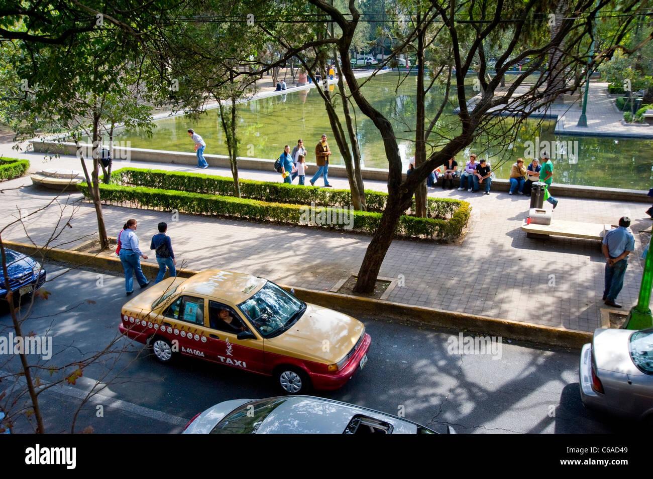Lincoln Park dans la ville de Mexico Photo Stock
