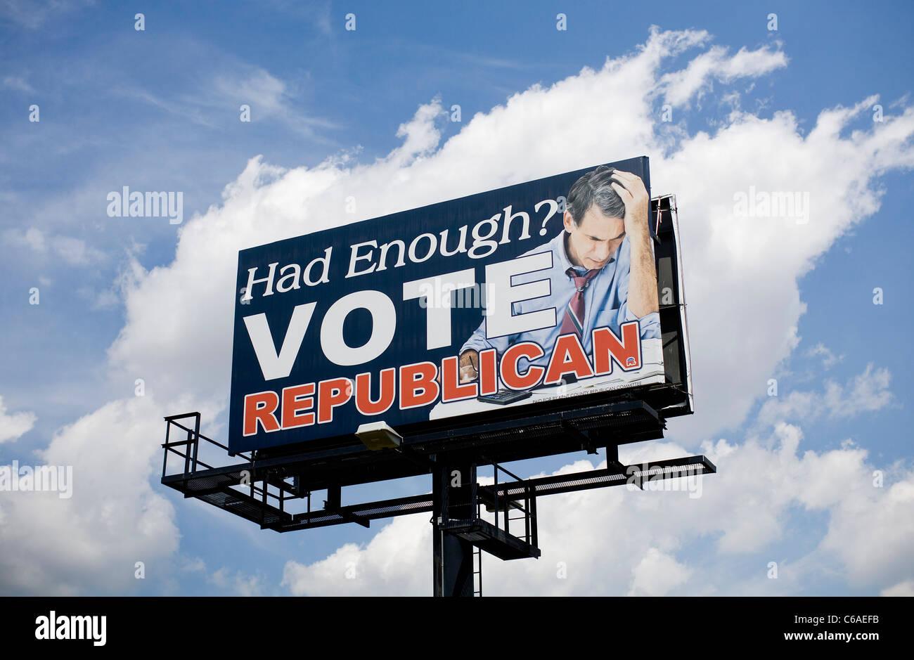 Parti républicain un panneau. Banque D'Images