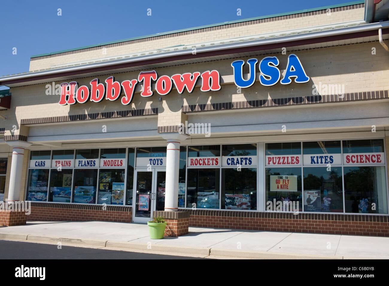 HobbyTown USA Franchise est un grand passe-temps et toy store Photo Stock