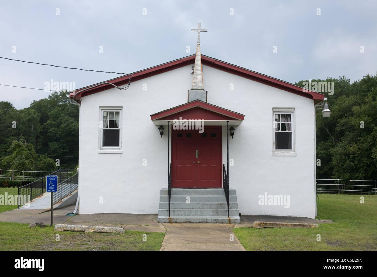 Humble église près de Salem, New Jersey Photo Stock