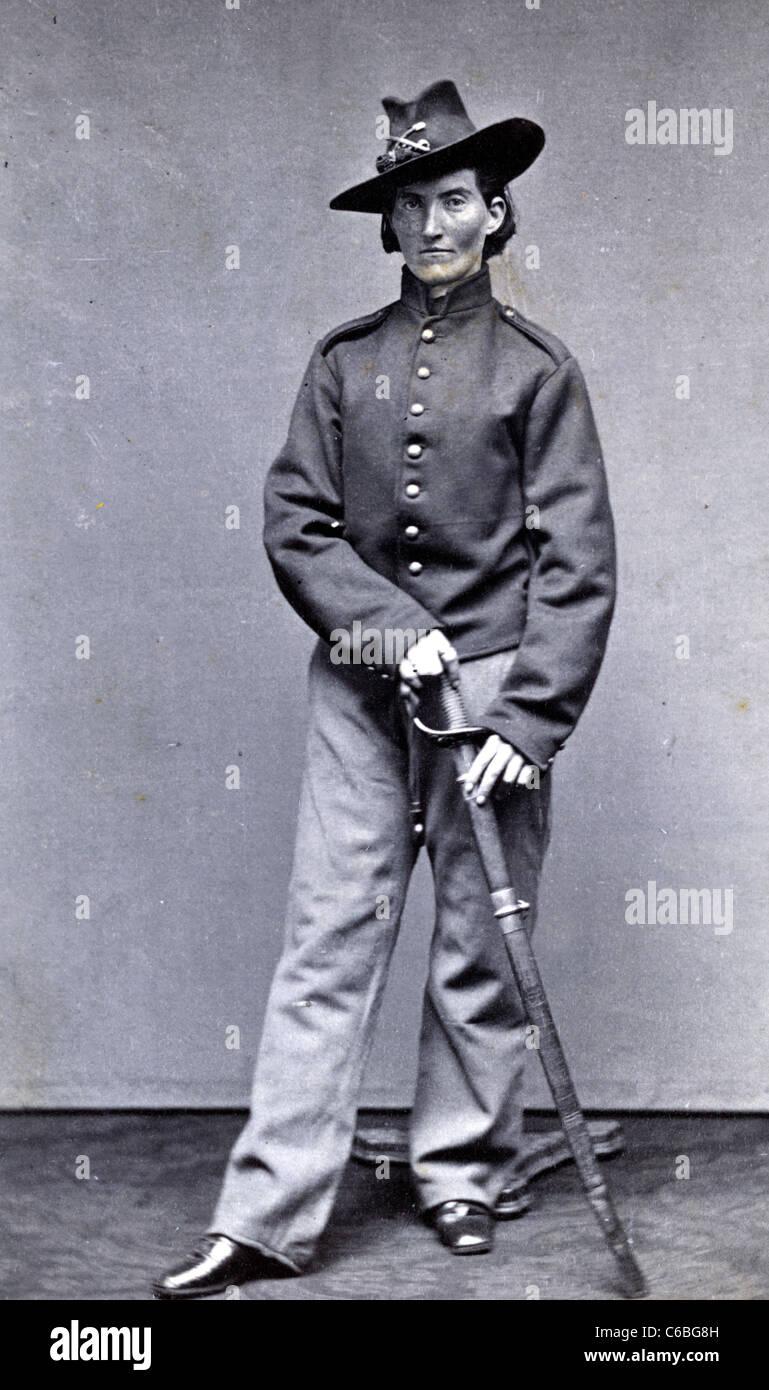 Frances Clalin Clayton, femme qui s'est déguisée en homme, 'Jack Williams,' pour combattre Photo Stock