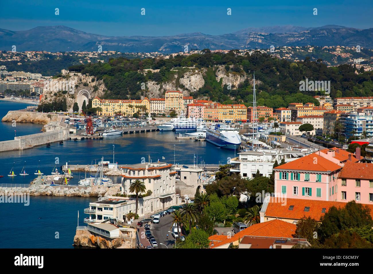 L'Europe, la France, le port de Nice Photo Stock