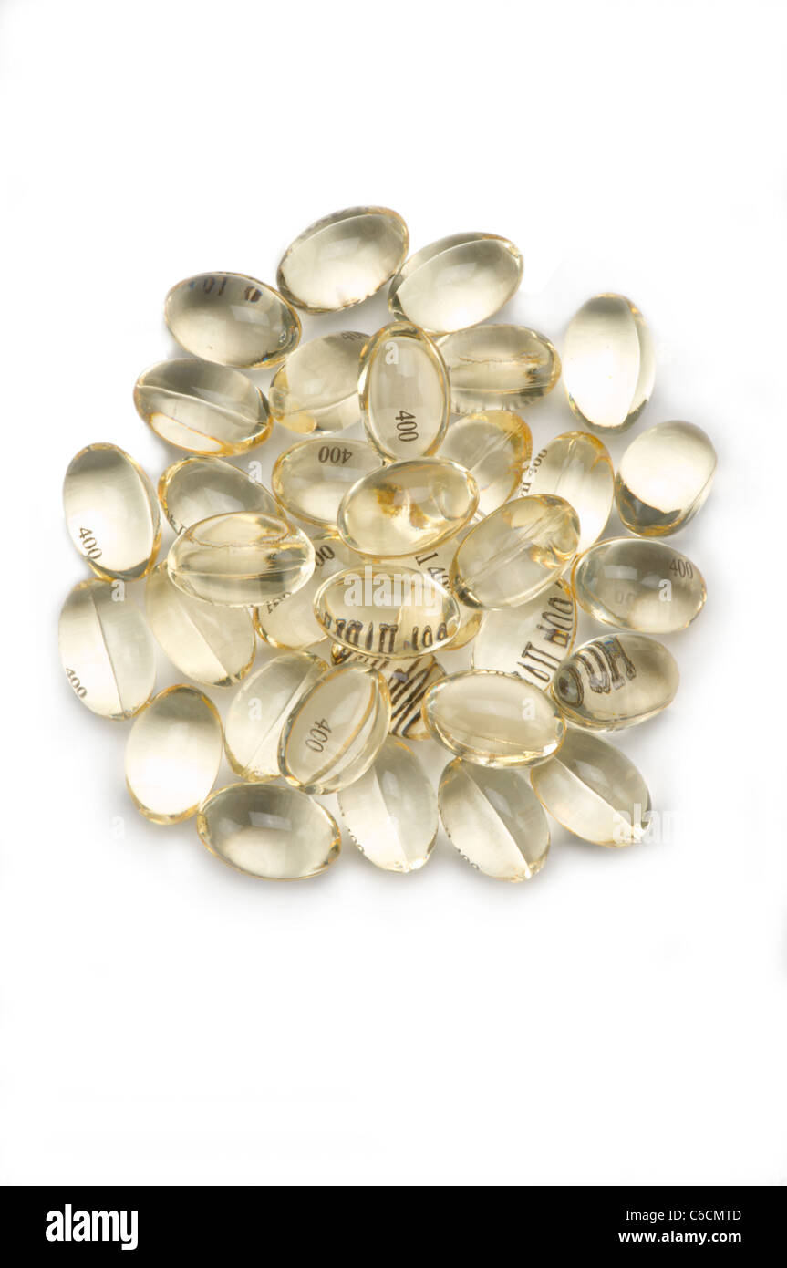 Gel capsules de médicaments contre la douleur Photo Stock