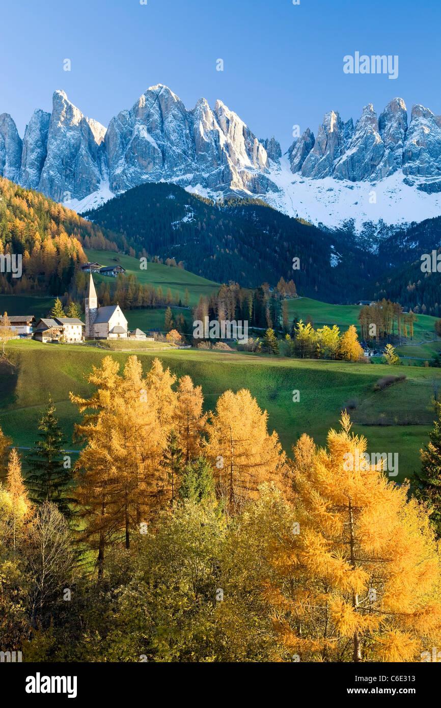Montagnes, Geisler Gruppe/ Geislerspitzen, Dolomites, Trentino-Alto Adige, Italie, Europe Photo Stock