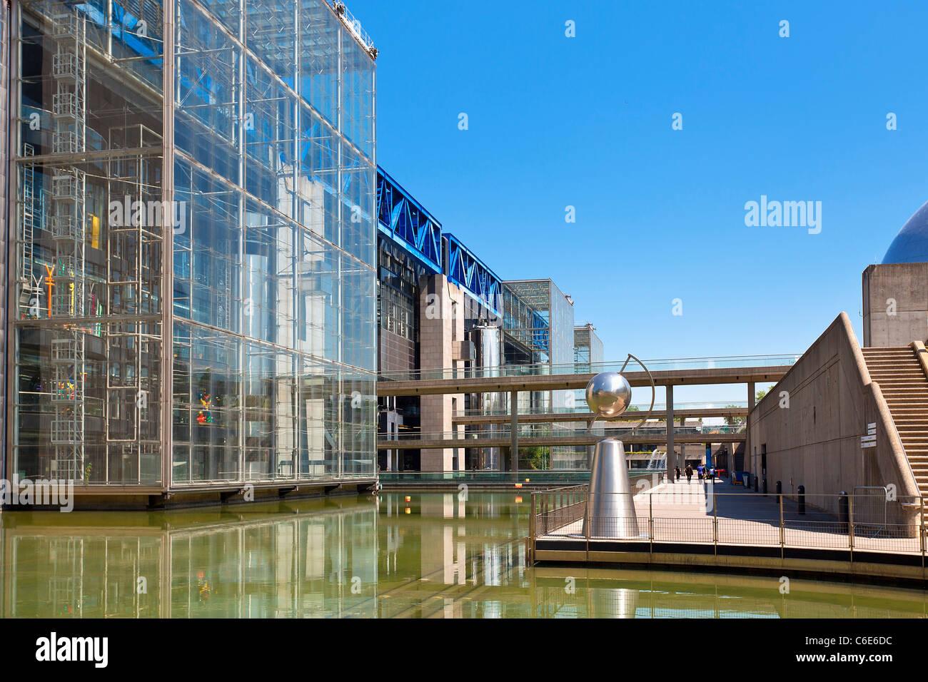 France, Paris (75), la Cité des Sciences et de l'industrie à La Villette Park Photo Stock