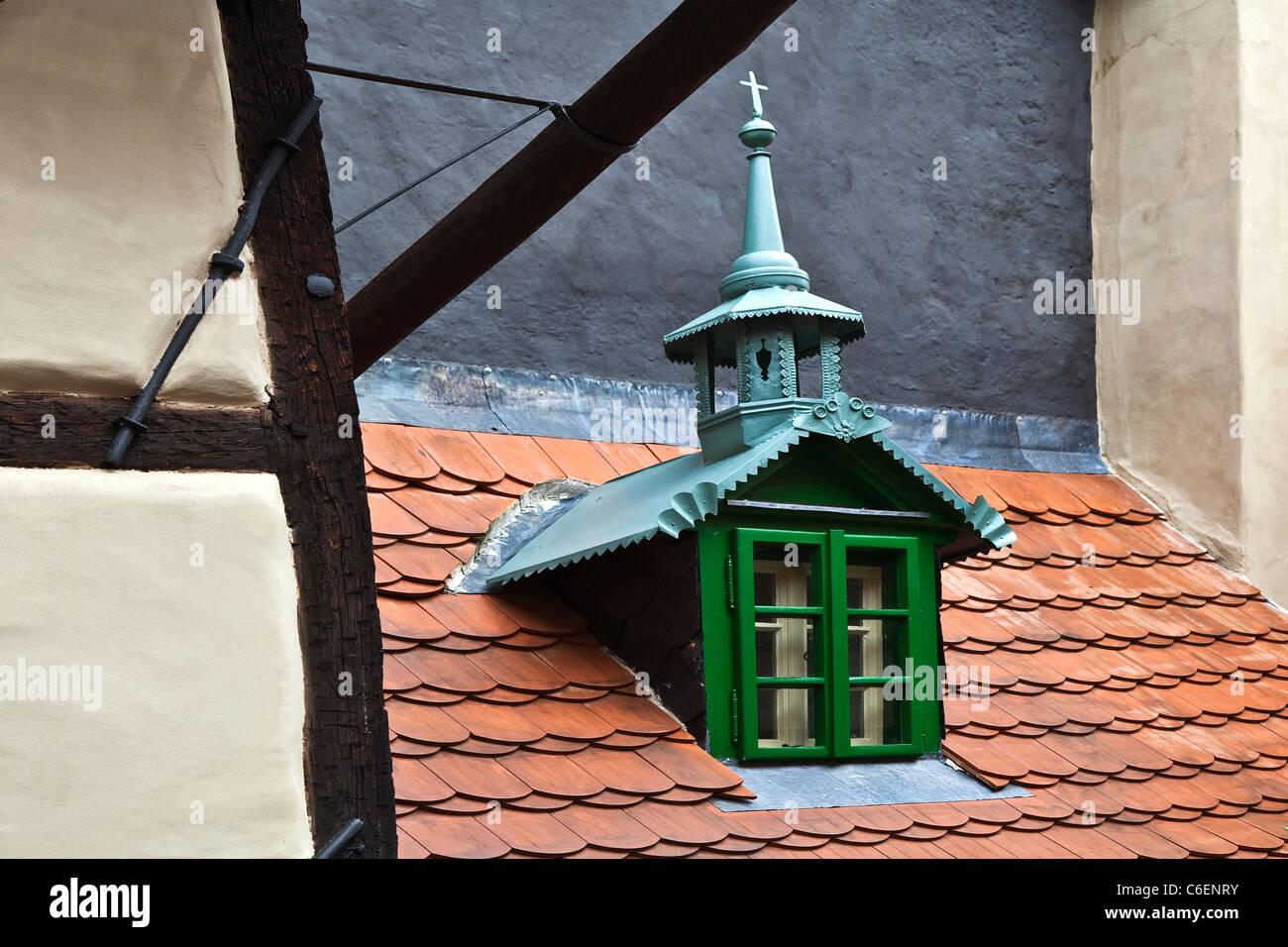 Maison médiévale dans la rue de Prague de l'alchimiste Photo Stock