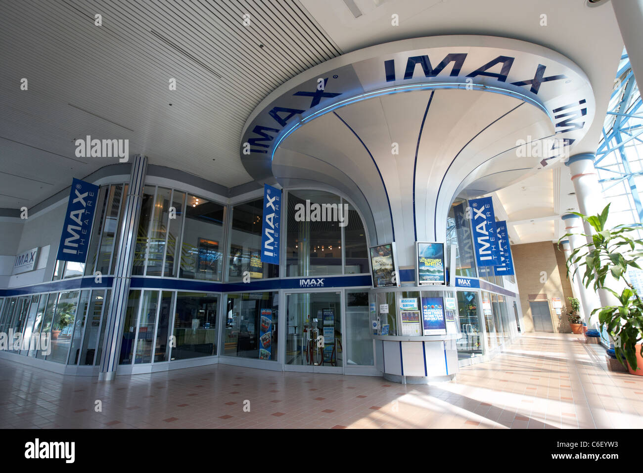 Cinéma Imax à portage place shopping center mall Winnipeg Manitoba canada Photo Stock
