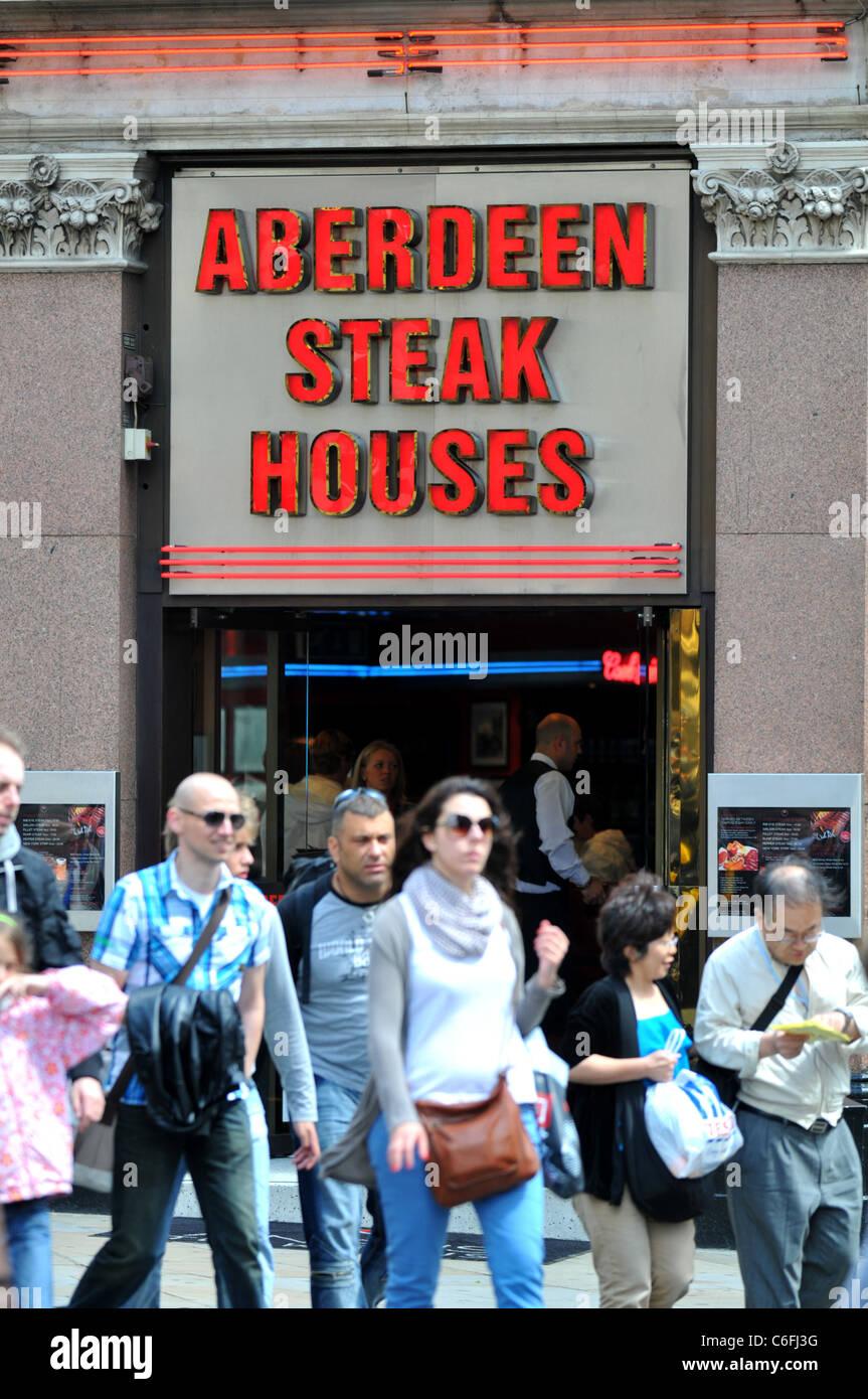 "Aberdeen ""Steak House, Londres, Angleterre, Royaume-Uni Photo Stock"