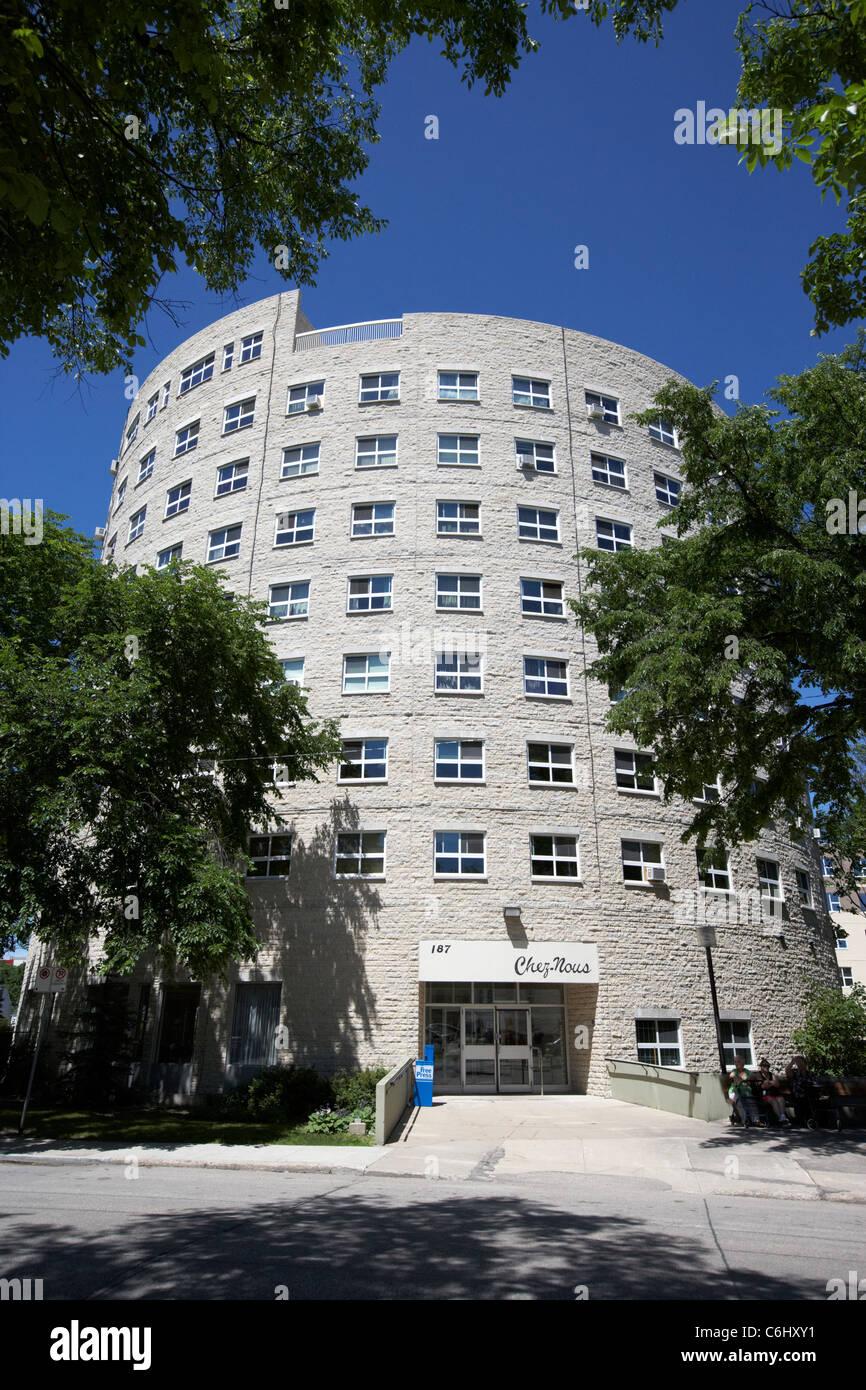 Maison de retraite à une rotonde édifice circulaire quartier ...