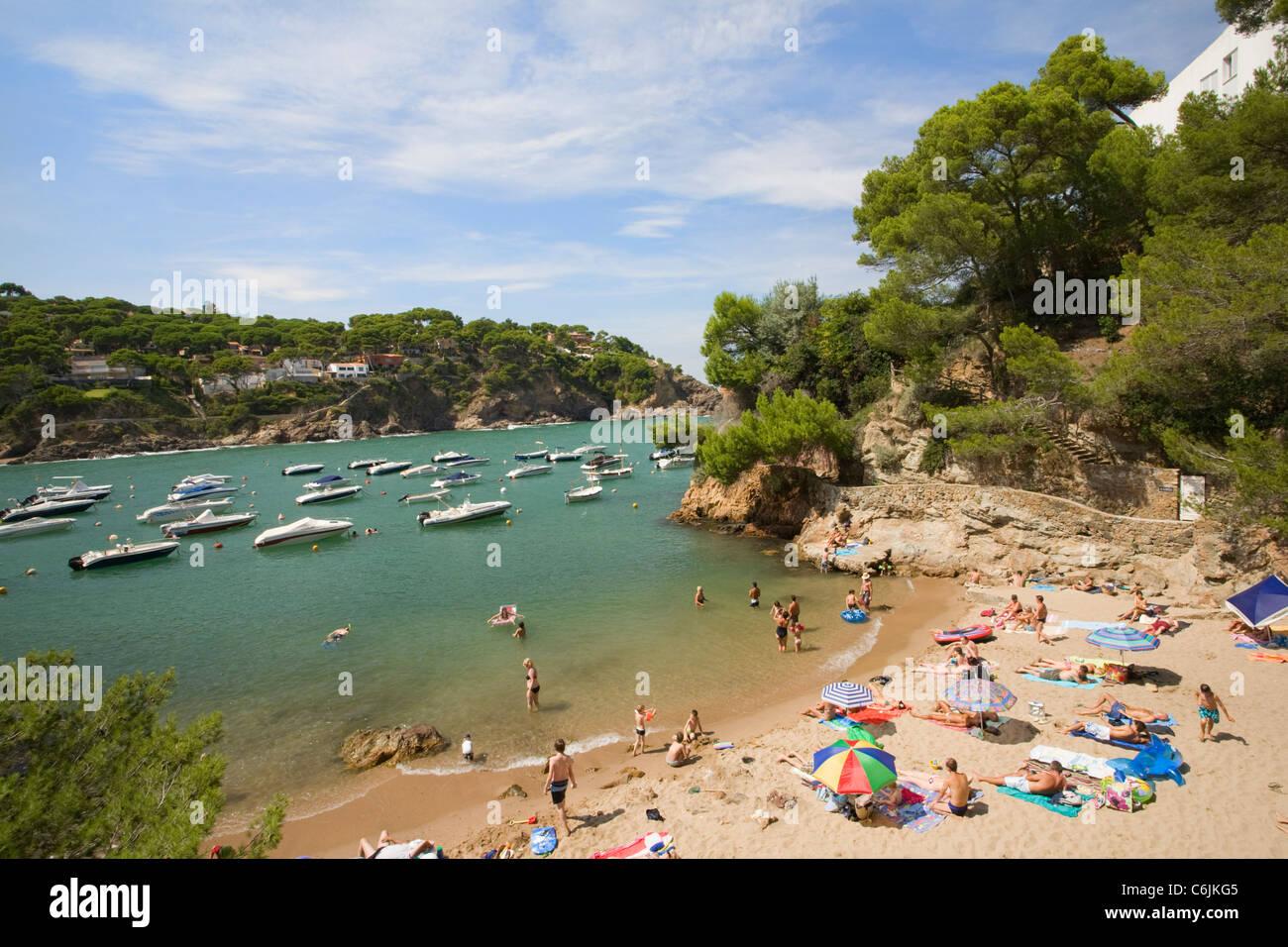Sa Riera, Costa Brava, Catalogne, Espagne Photo Stock