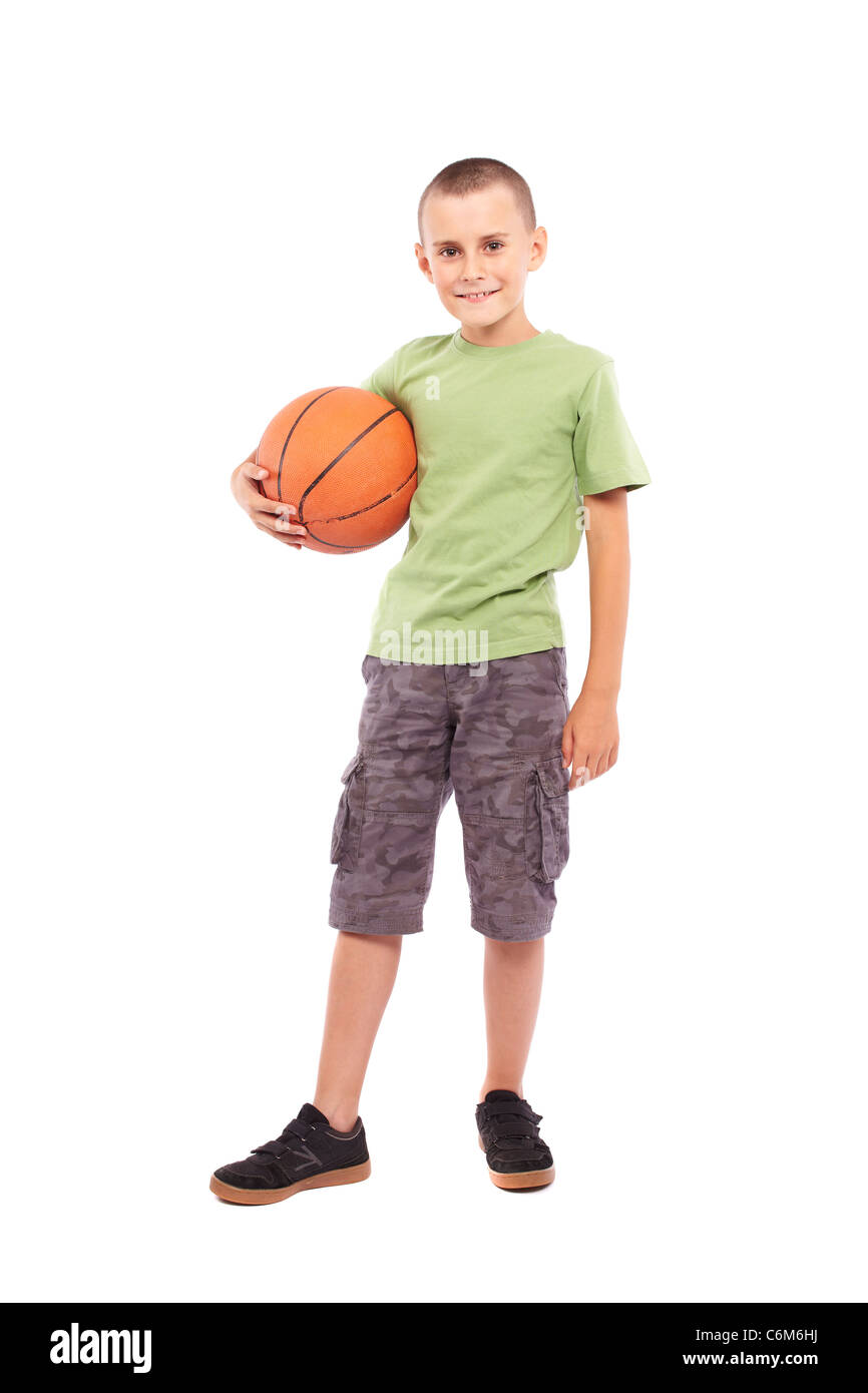9b471b52b5024 Adorable Kid Basketball Isolated On Photos & Adorable Kid Basketball ...