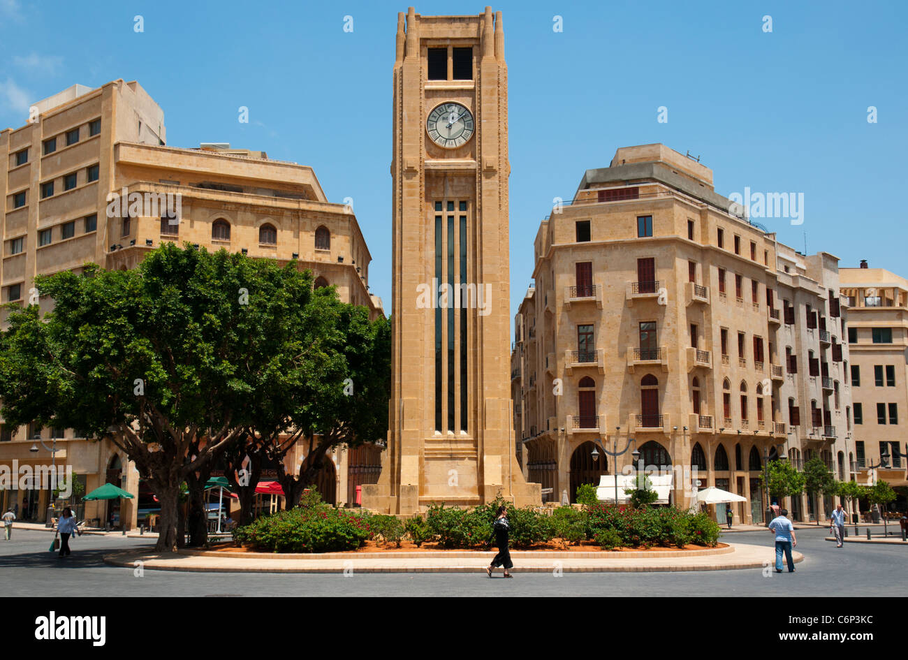 La place de l'Etoile. Le centre-ville de Beyrouth. Le Liban. Photo Stock