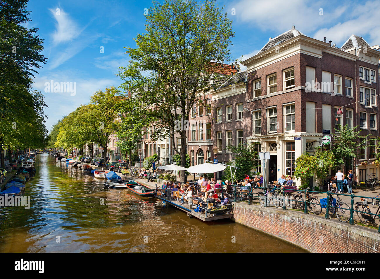 Pays-bas, Amsterdam, Canal Photo Stock