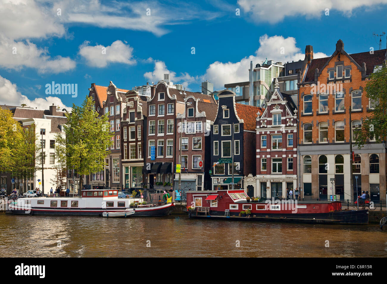 L'Europe, Pays-Bas, Canal à Amsterdam Photo Stock