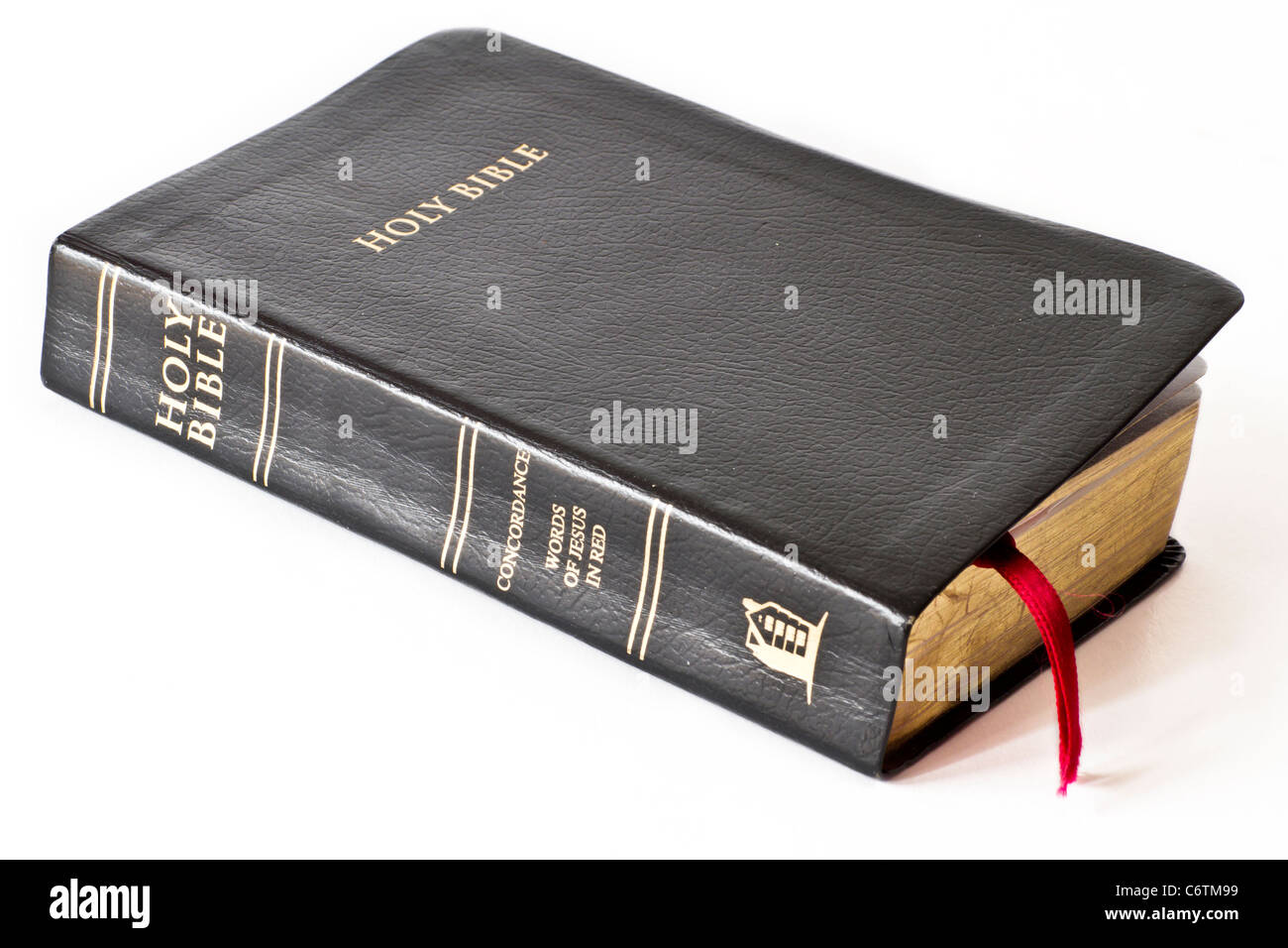 Sainte Bible isolated on white Banque D'Images