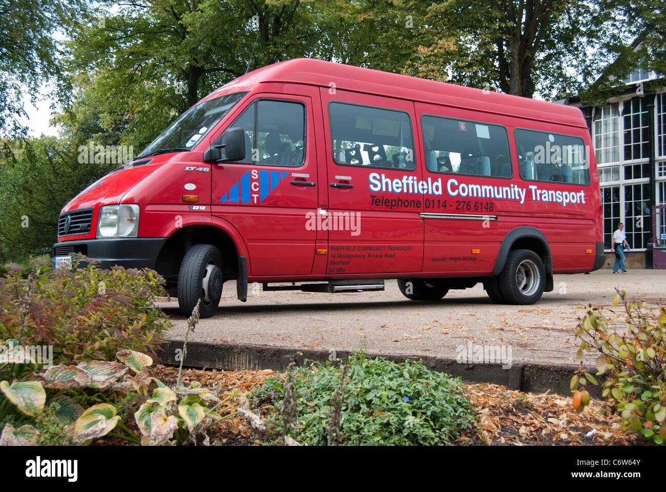 Transport bus Communauté Sheffield Photo Stock