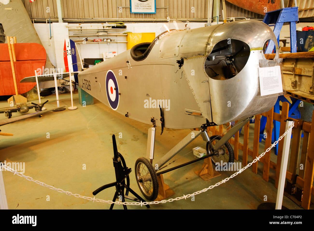 De Havilland Aviation Heritage Centre Mosquito Museum DH53 Colibris 1923/24 premier vol propulsé par 750 cc Photo Stock