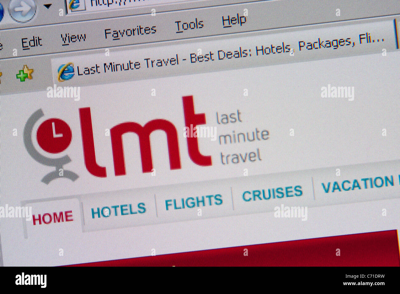 Lmt 'last minute travel' site web en ligne Photo Stock