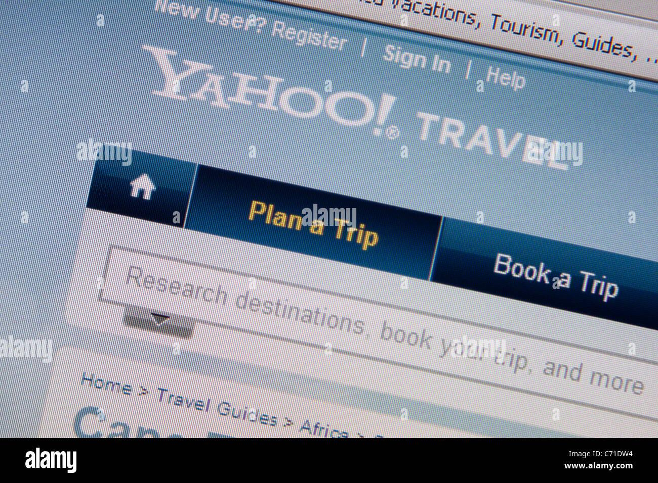Site web en ligne de Yahoo travel Photo Stock
