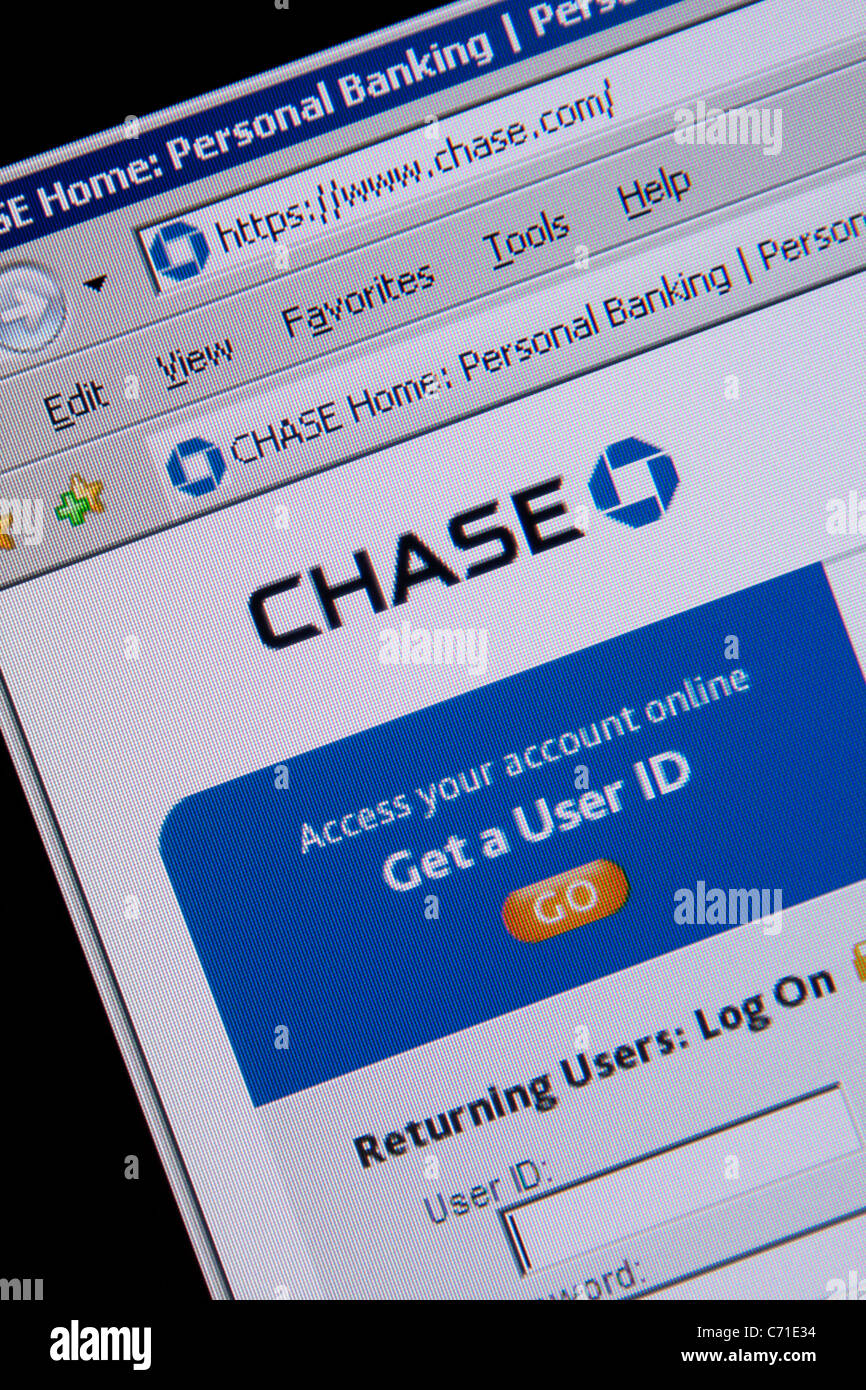 Chase Banque en direct Photo Stock