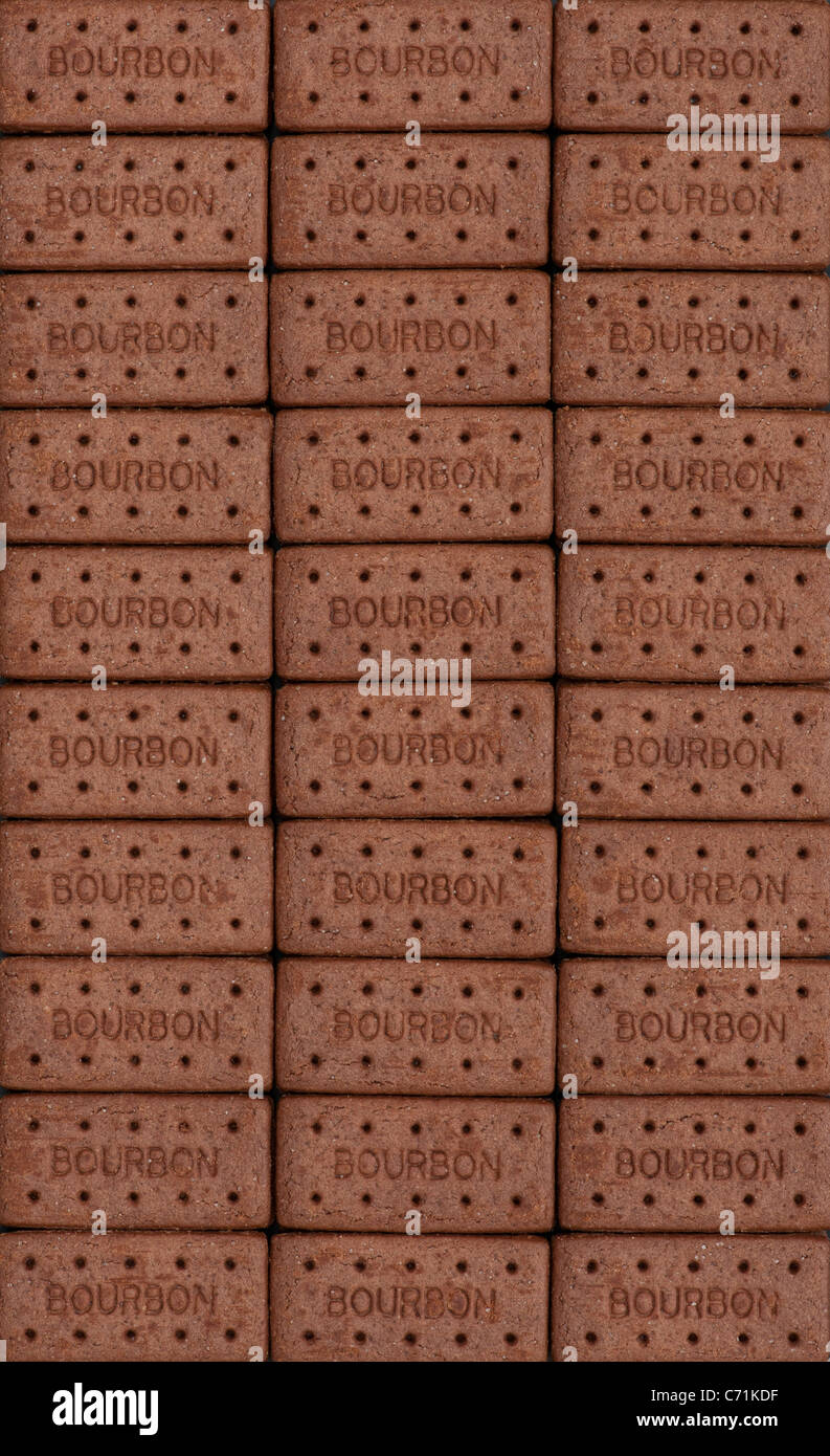 Motif Chocolat Biscuits Bourbon Photo Stock