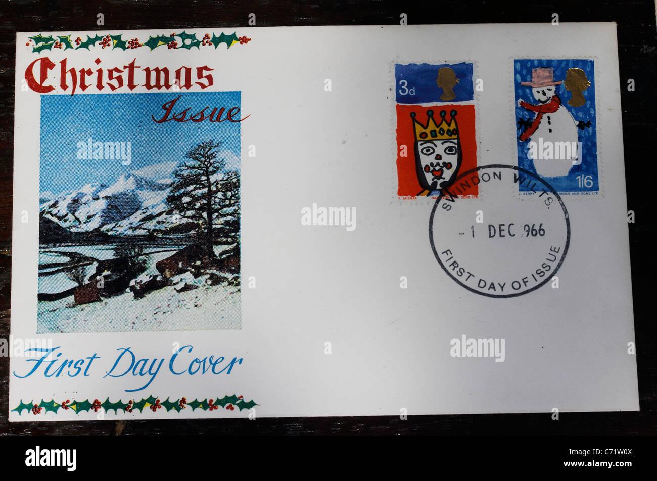Timbres enveloppe premier jour de noël le bureau de poste