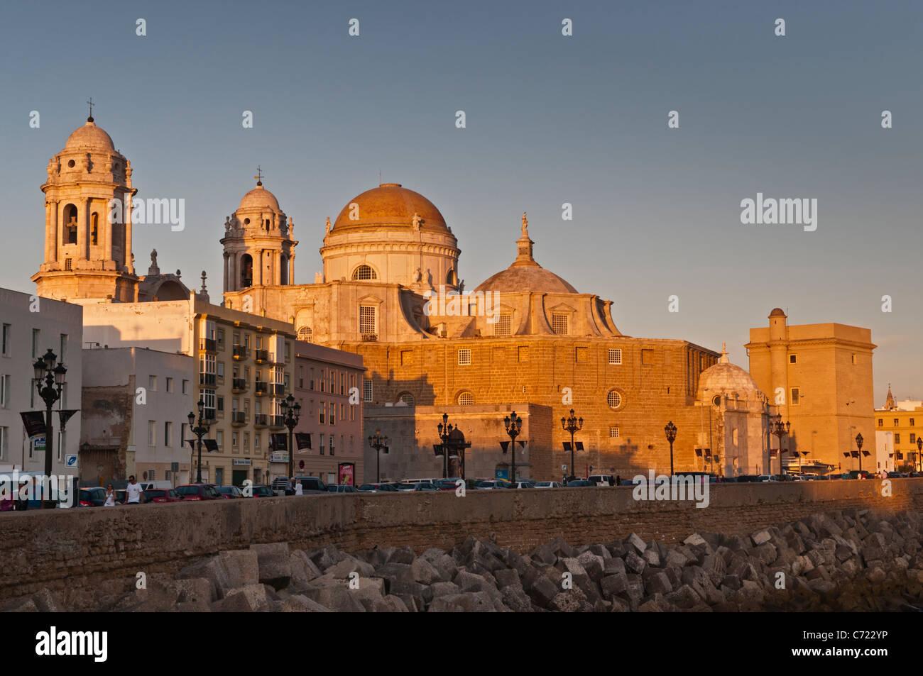 La Cathédrale de Cadix Cadix Espagne Banque D'Images