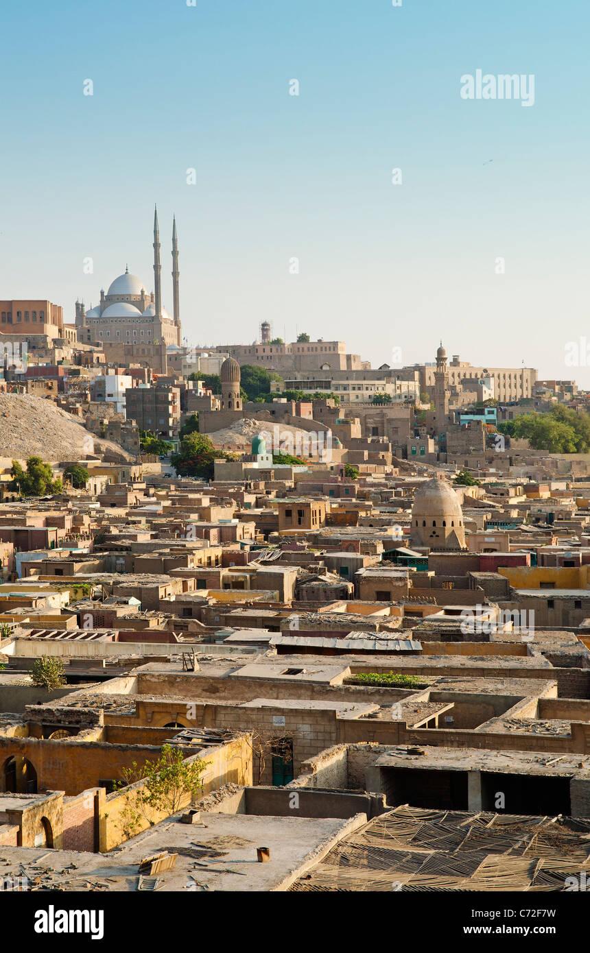 Cité des morts et de la Citadelle du Caire Egypte Banque D'Images