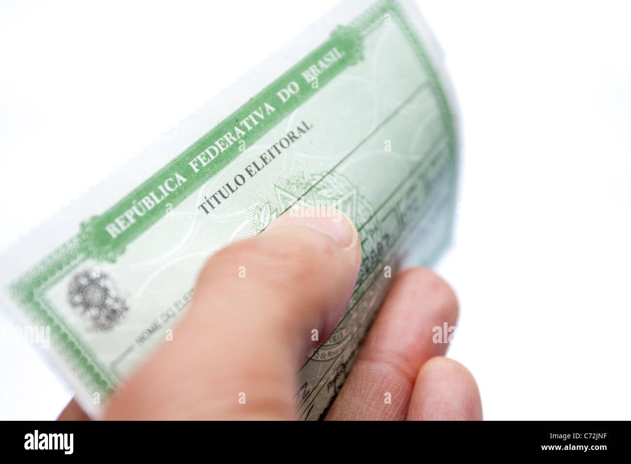 Carte Identite Bresil.Bresil Carte D Identite De L Election Banque D Images Photo