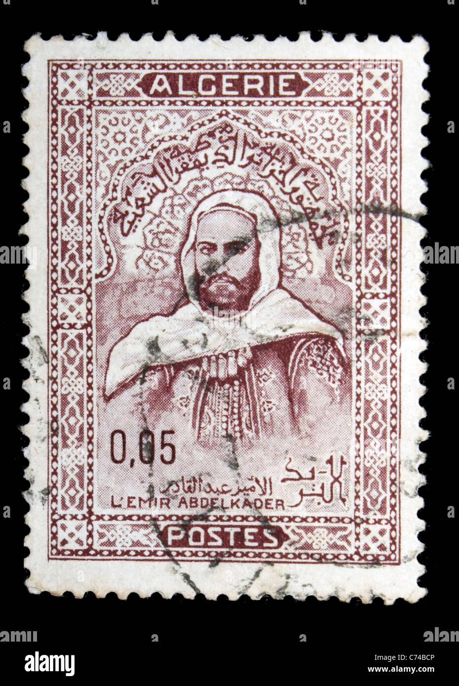 L'Emir Abdelkader Algérie timbre-poste Photo Stock