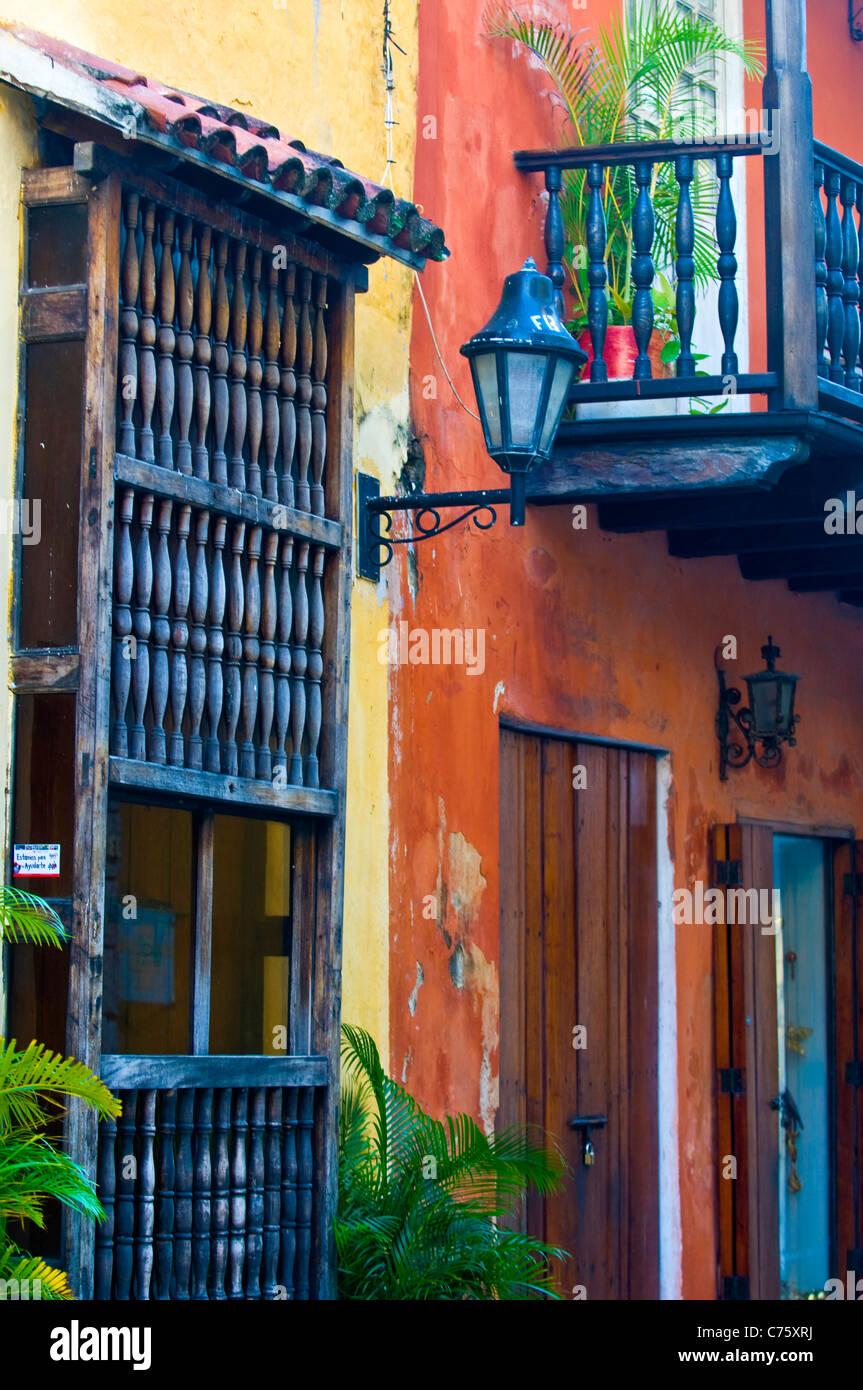 """L'architecture de """"Cartagena de Indias"""" Colombie Banque D'Images"""