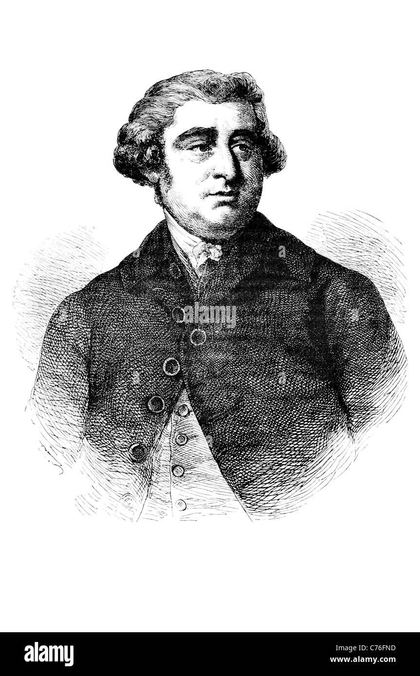 Portrait Charles James Fox l'Honorable homme d'État britannique du parti Whig Parlement carrière Photo Stock
