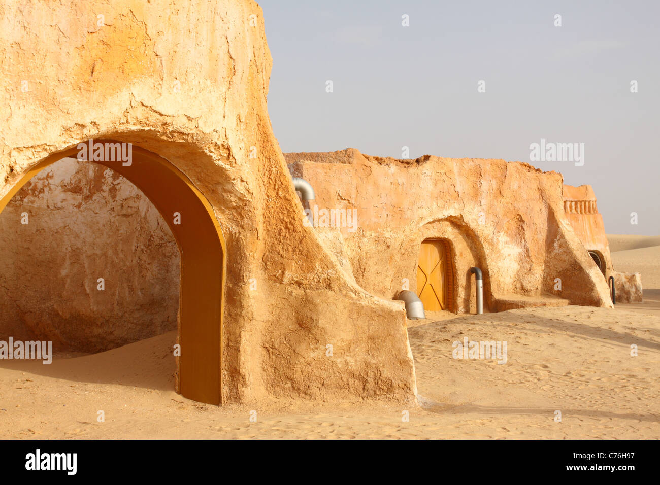 Le décor pour le film Star Wars en Tunisie Photo Stock